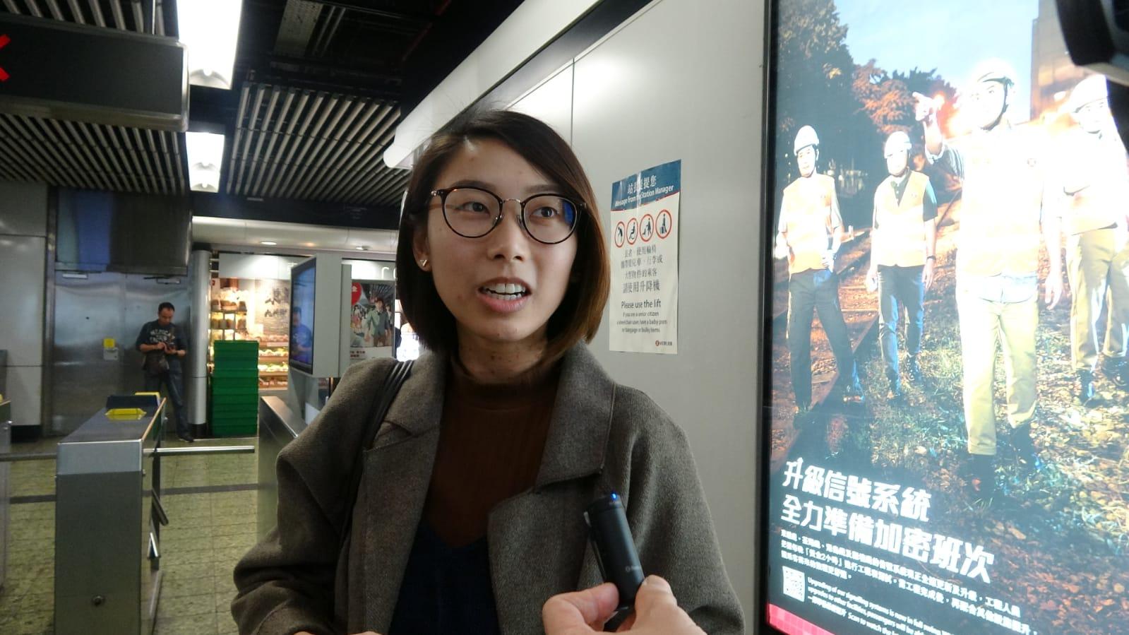 乘客馮小姐知悉事件後感到擔心,她表示會選擇步行樓梯。