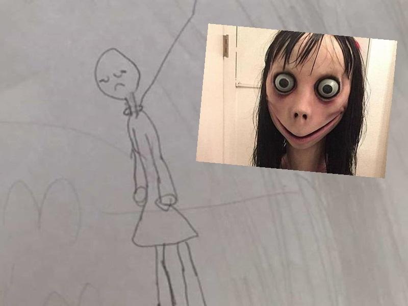 美国有七岁女画吊颈画。网上图片