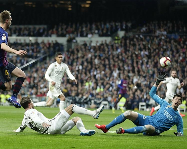 巴塞隆拿作客以1:0擊敗皇家馬德里。AP