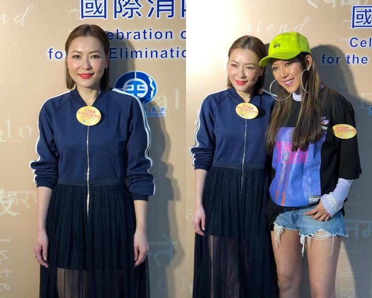 阿田跟鍾舒漫以歌手身份出席公開活動感開心。
