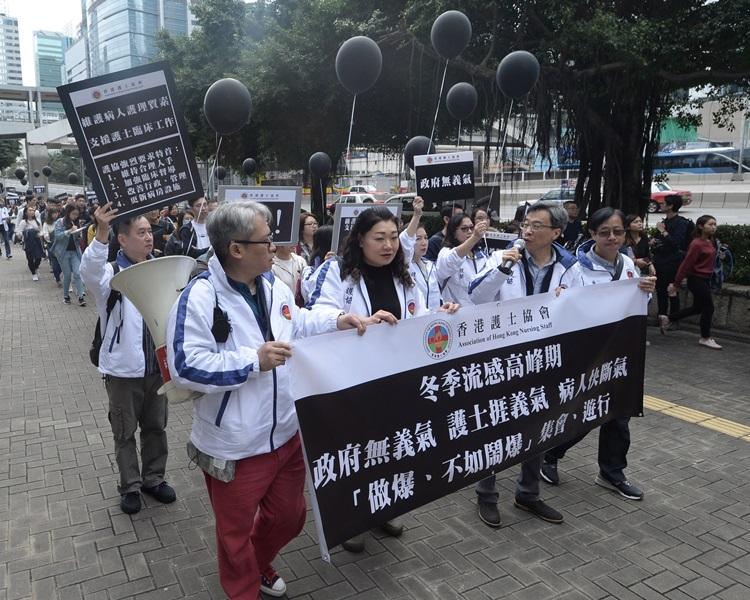 近來有多個護士團體抗議人手短缺。資料圖片