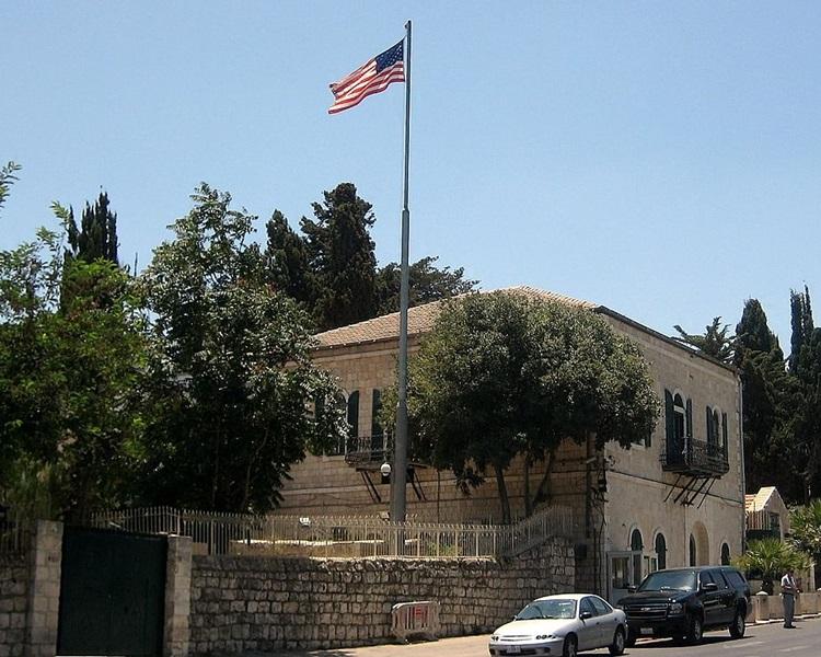 美国驻耶路撒冷总领事馆正式关闭。网图