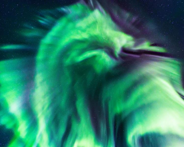 「巨龙」极光令人惊豔。NASA网站