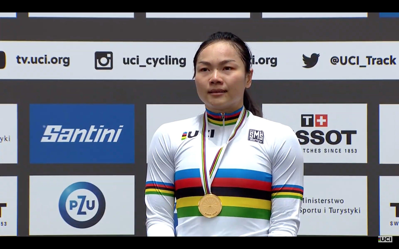 兩奪世界冠軍的李慧詩,周五勢披上彩虹戰衣主場出戰保誠國際單車賽。網上圖片