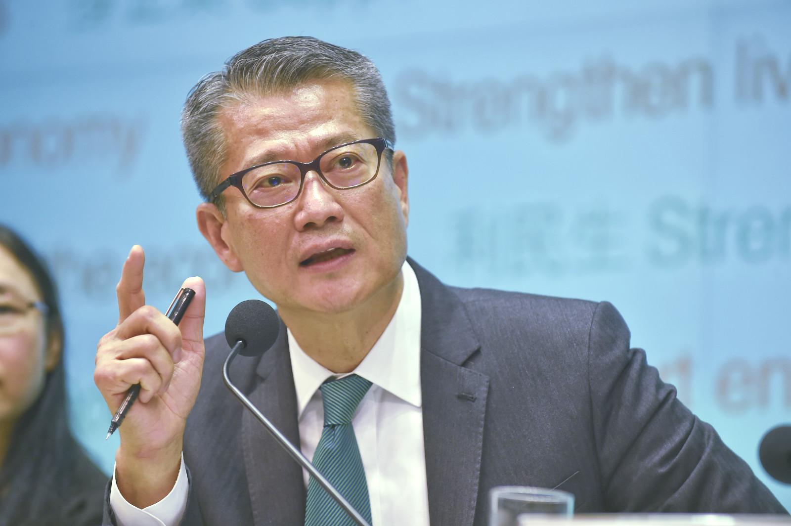 市民平均給予陳茂波最新一份財政預算案43.1分。資料圖片