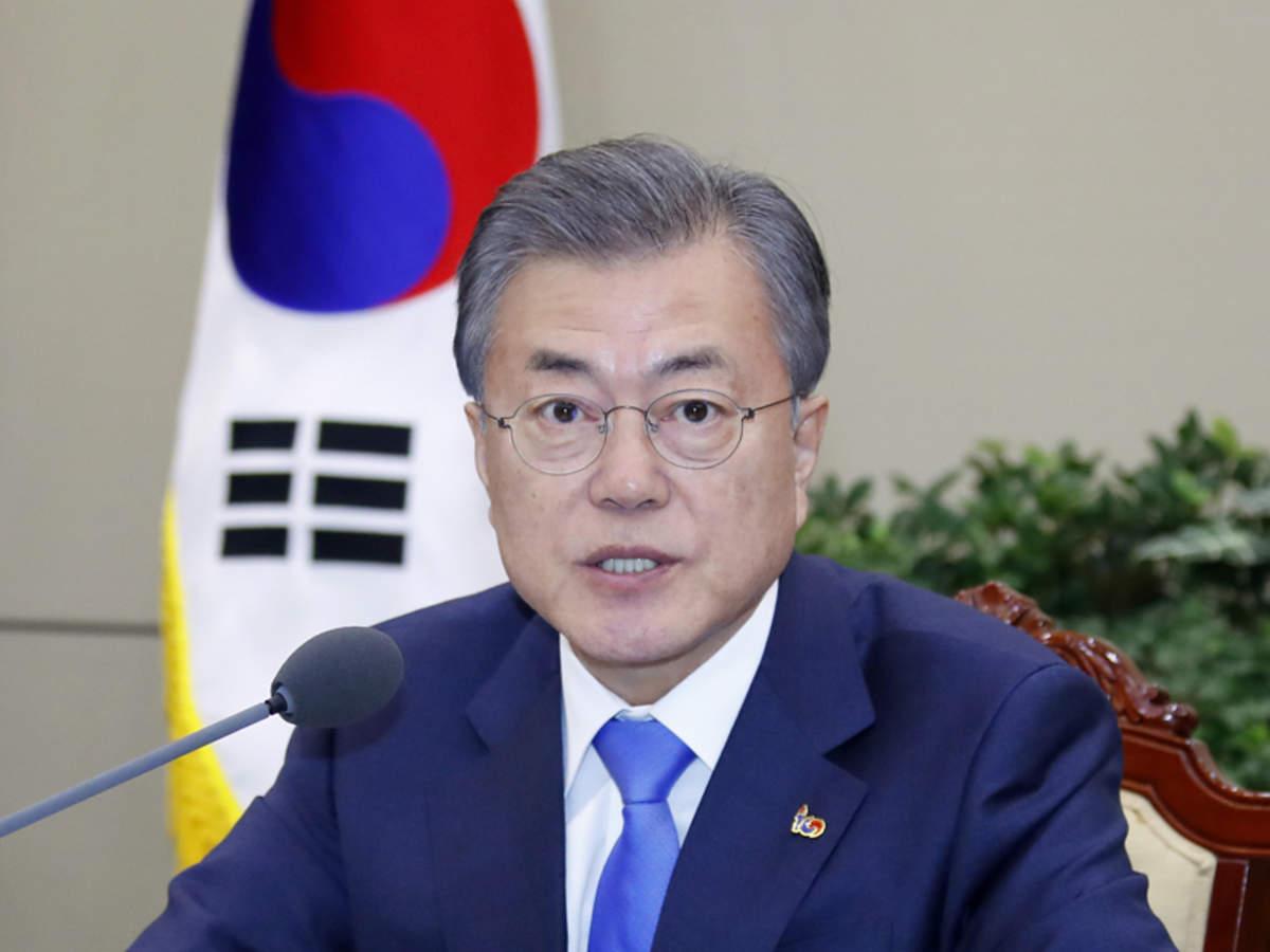 南韩总统文在寅要求与中国合作治理空气污染。图片