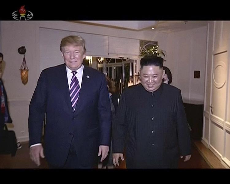 北韓官方電視台播出河內峰會的片段,沒有提及未能達成協議。AP