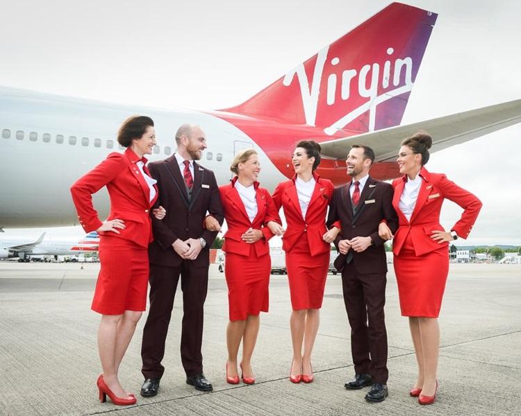 维珍航空不再硬性规定空姐当值时要化妆或穿裙子。网图