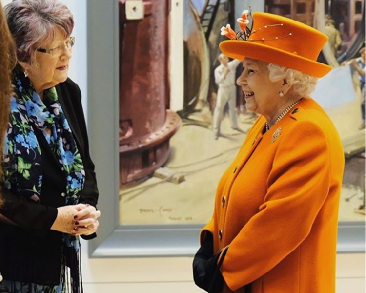 英女皇周四参观博物馆。the royal family instagram