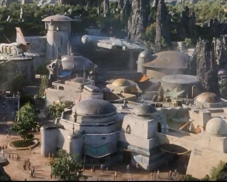 星戰主題園區即將開幕。影片截圖