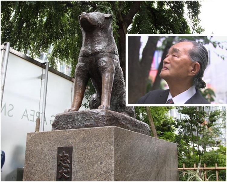 安藤士(小图)第二代忠犬八公铜像製作人。
