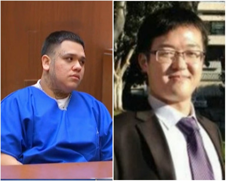奥乔亚(左)是纪欣然(右)遭殴毙案中最后一名被告。