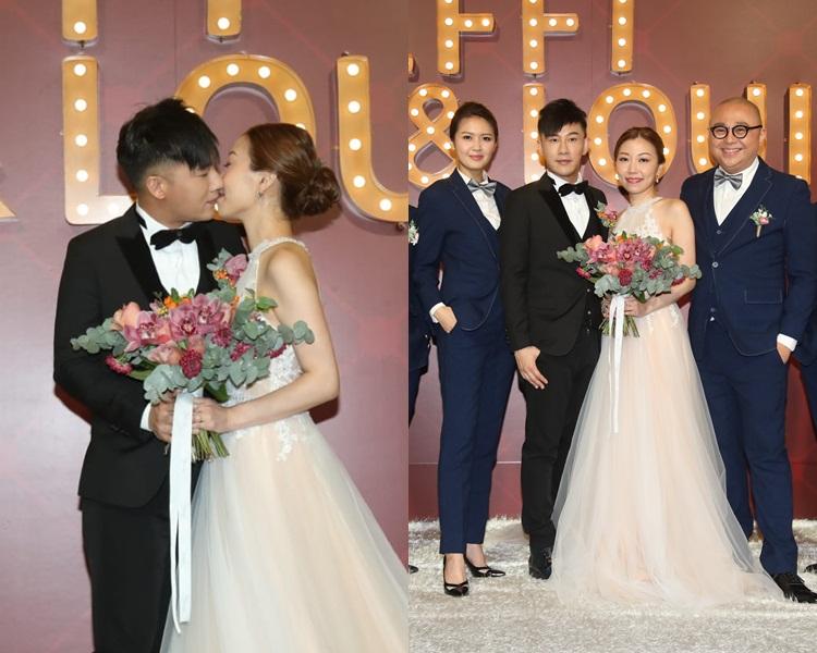 甄澤權同老婆甜蜜咀嘴,Bob和陳庭欣擔任兄弟。