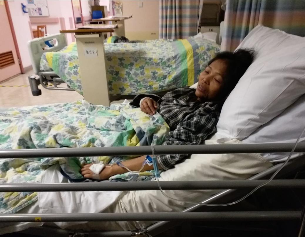 38歲菲傭Baby Jane Allas確診患上第三期子宮頸癌。網上圖片