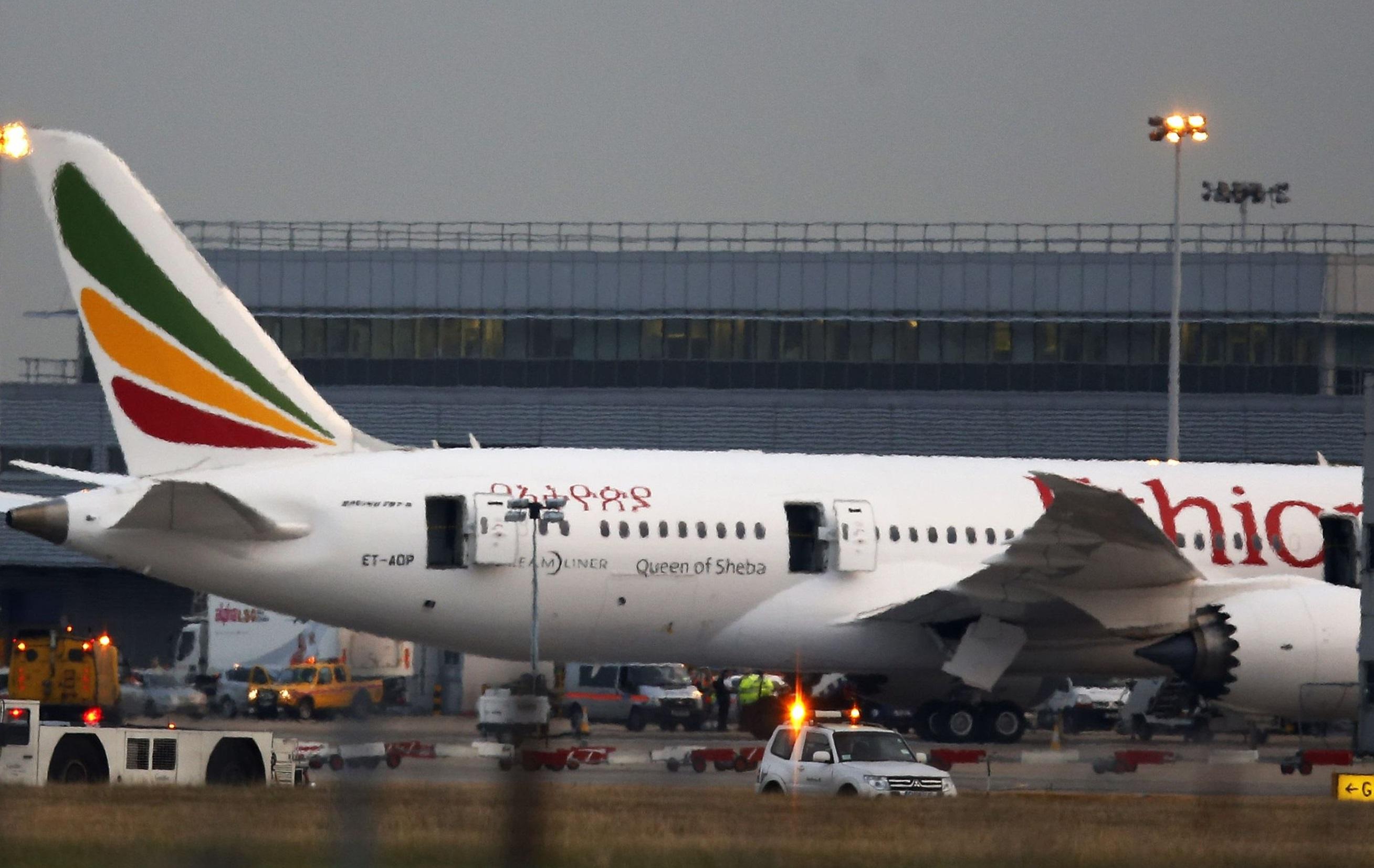 埃塞俄比亚航空发生空难。AP