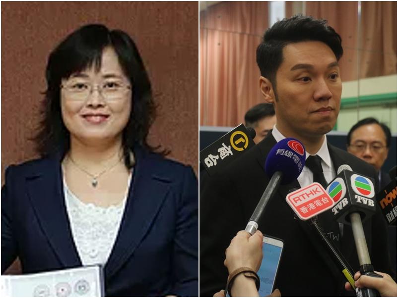 王賢誌(右)表示目前未能聯絡上羅婉儀(左)。