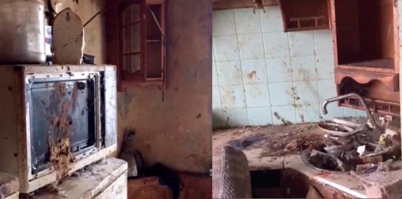 女童独留在环境极为恶劣的公寓内。(网图)