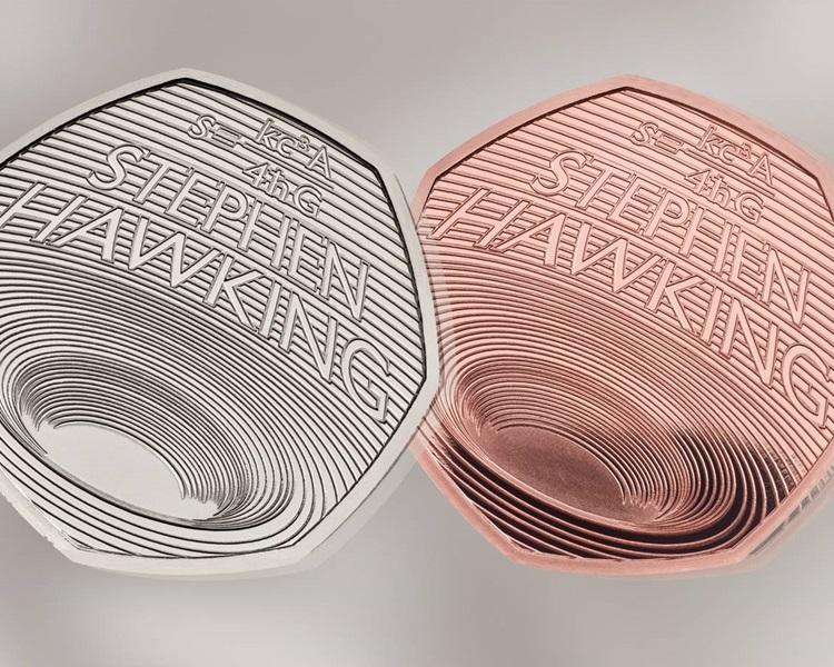 霍金黑洞理論紀念幣。網圖