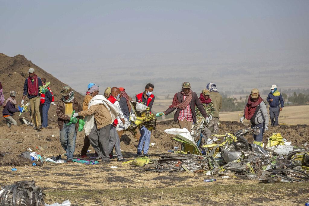 埃塞俄比亞航空日前發生空難。AP圖片