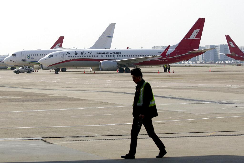 中國民航局宣布禁飛波音737 MAX 8型號飛機。AP圖片