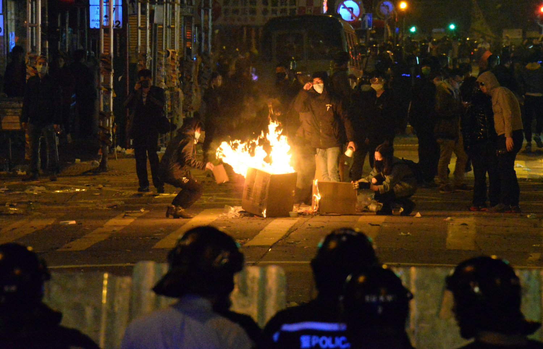 2016年大年初一发生的「旺角暴动」事件。 资料图片
