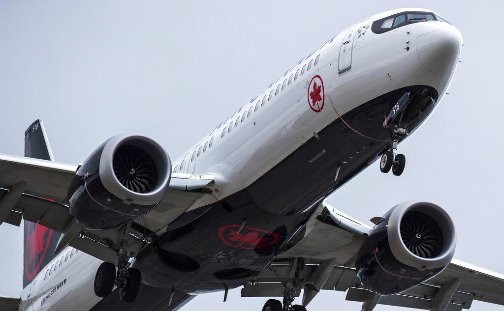 美國及加拿大尚未禁飛737 MAX客機。AP圖片