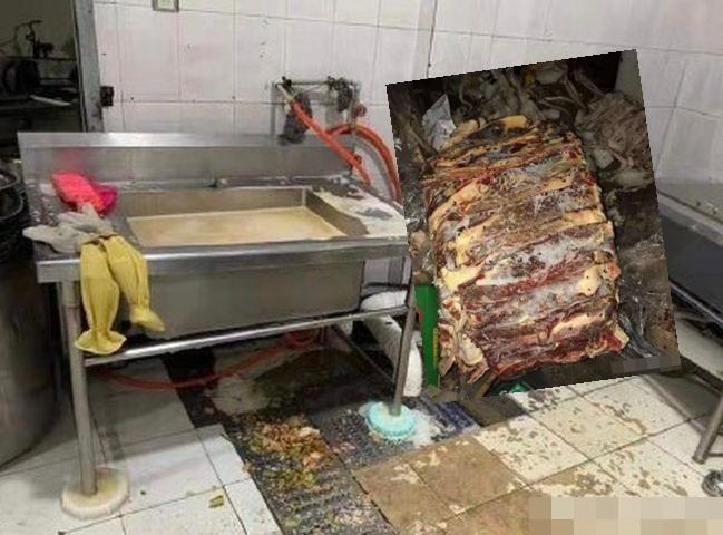 食堂的衛生環境惡劣。網圖