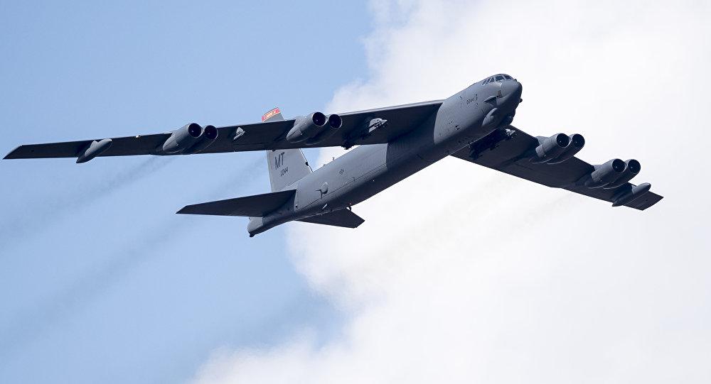 美军B-52轰炸机。AP资料图片
