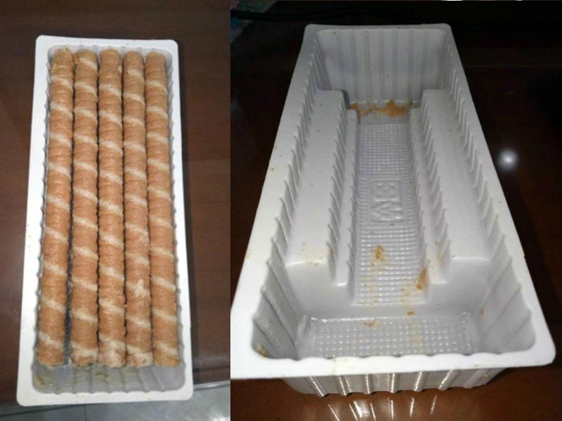 「阶梯状下陷」饼乾盒食完才知减量。爆怨公社图片