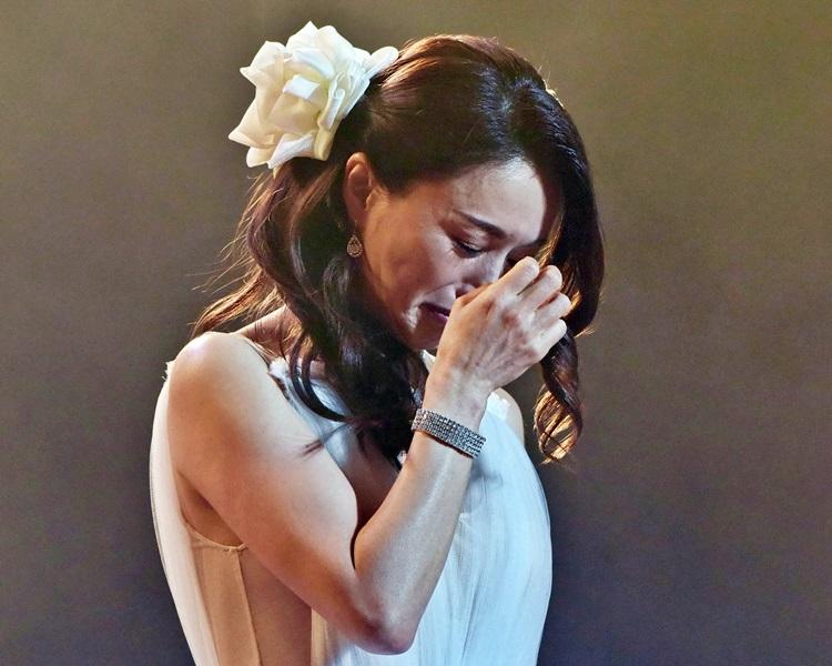 酒井法子去年來港開騷 ,fans熱情不減,令她感動落淚。資料圖片