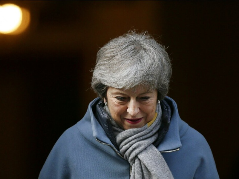 英國下議院通過動議押後脫歐。AP