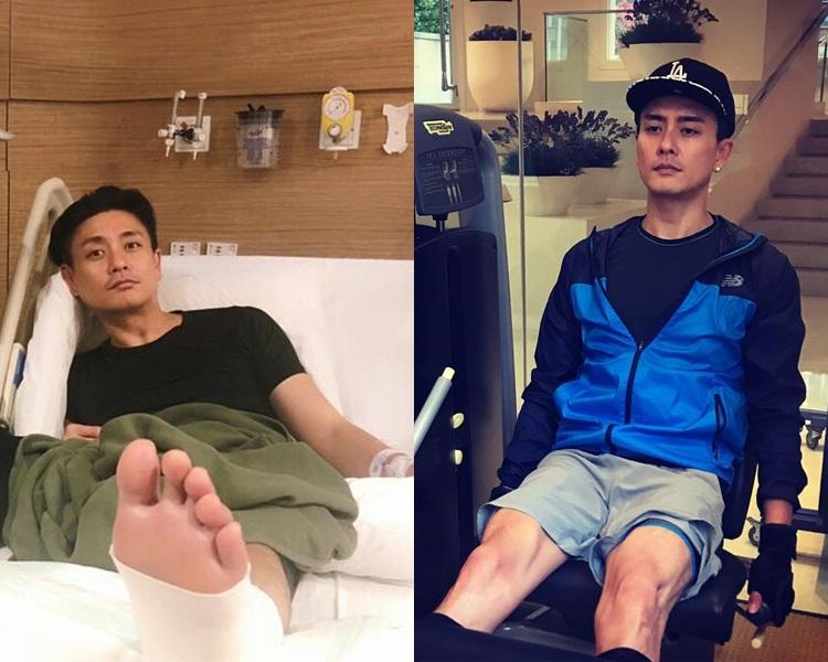Bosco腳傷仍未痊癒已經開始健身操腿。黃宗澤ig