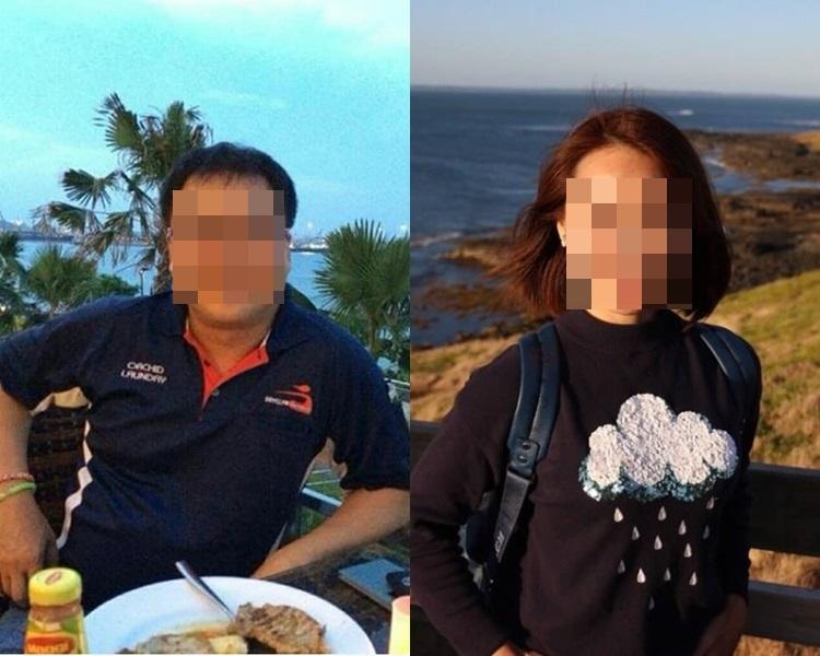 崔雅潔(右)早年被50歲的新加坡已婚男友邱貴福(左)殺害。網圖