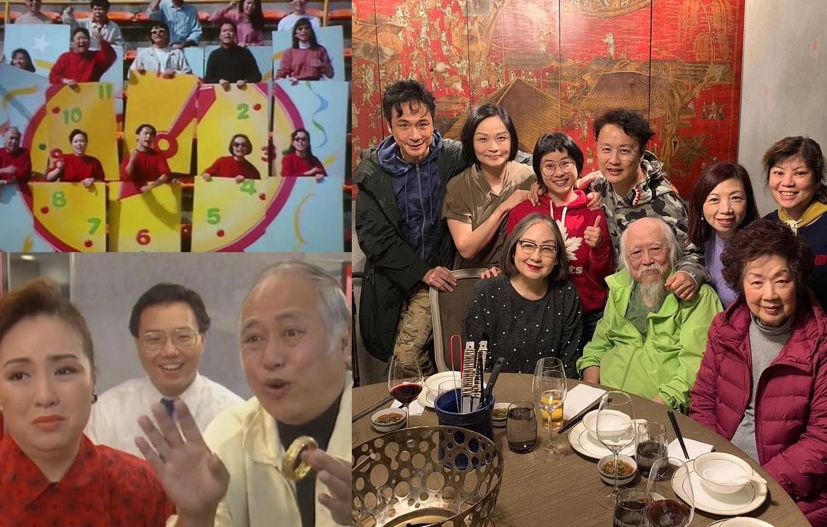 《卡拉屋企》劇中演員與「肥媽」盧宛茵慶祝66歲生日。
