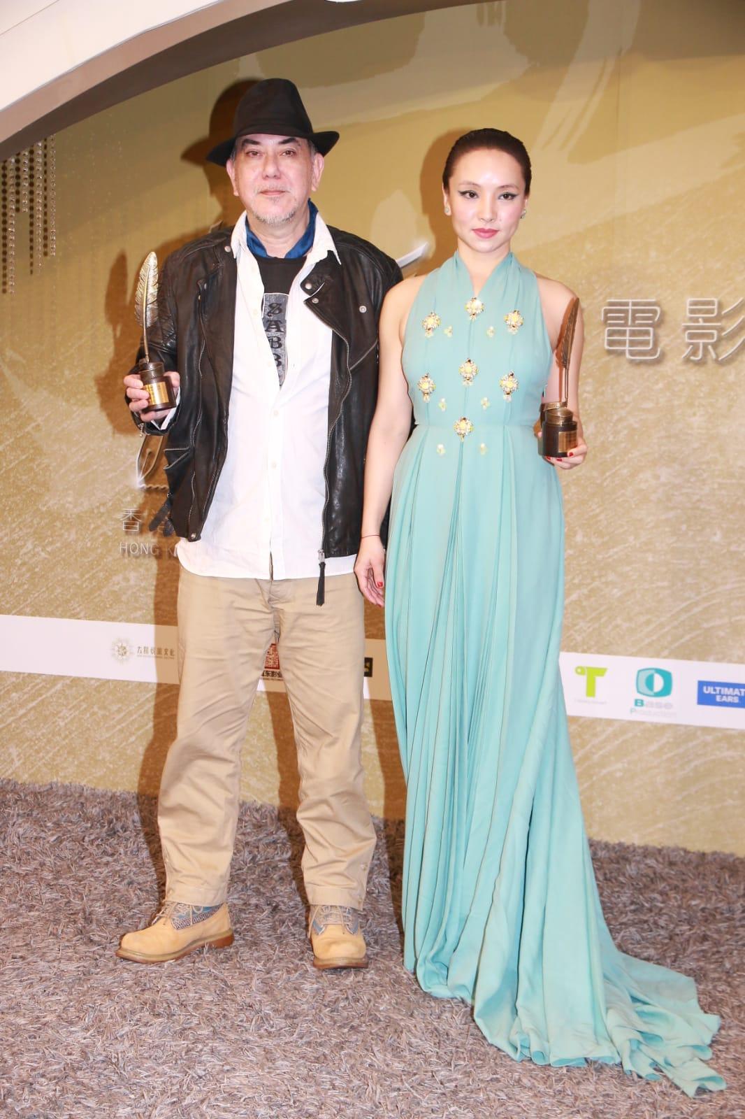 黃秋生和曾美慧孜獲電影編劇家協會頒「最佳角色演繹獎」。
