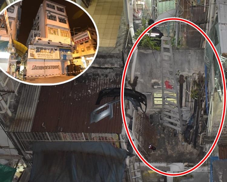 事主爬梯到十多呎高平台检查水管时,怀疑期间失足堕楼。