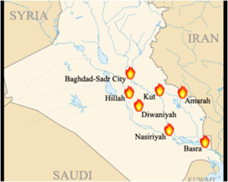 事故發生在伊拉克東部城市庫特。網圖