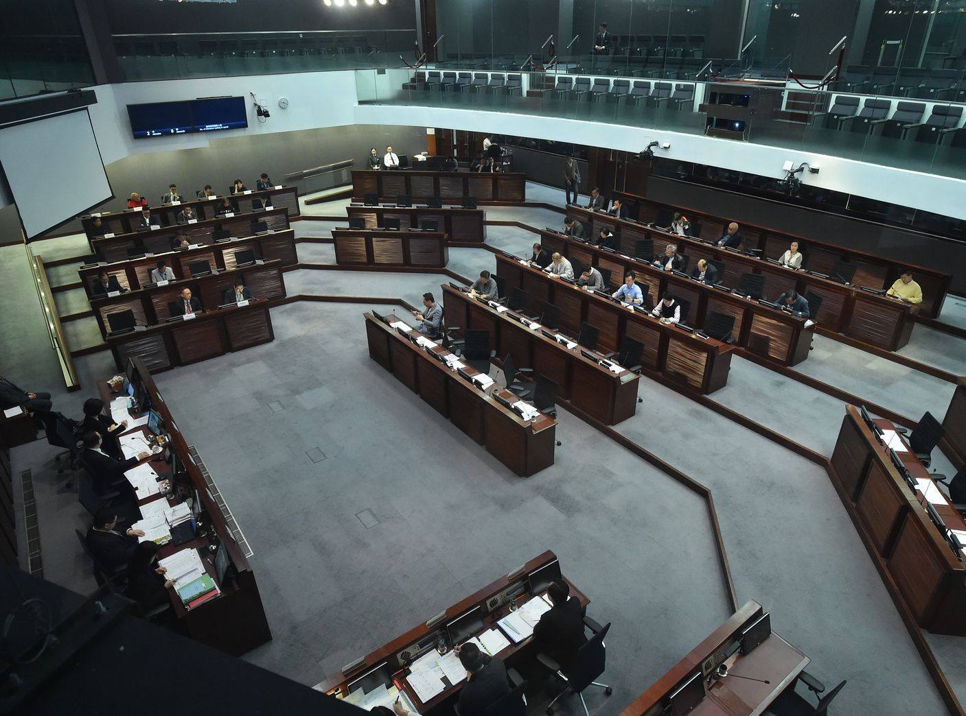 立法會今日就《國歌條例草案》舉行公聽會。