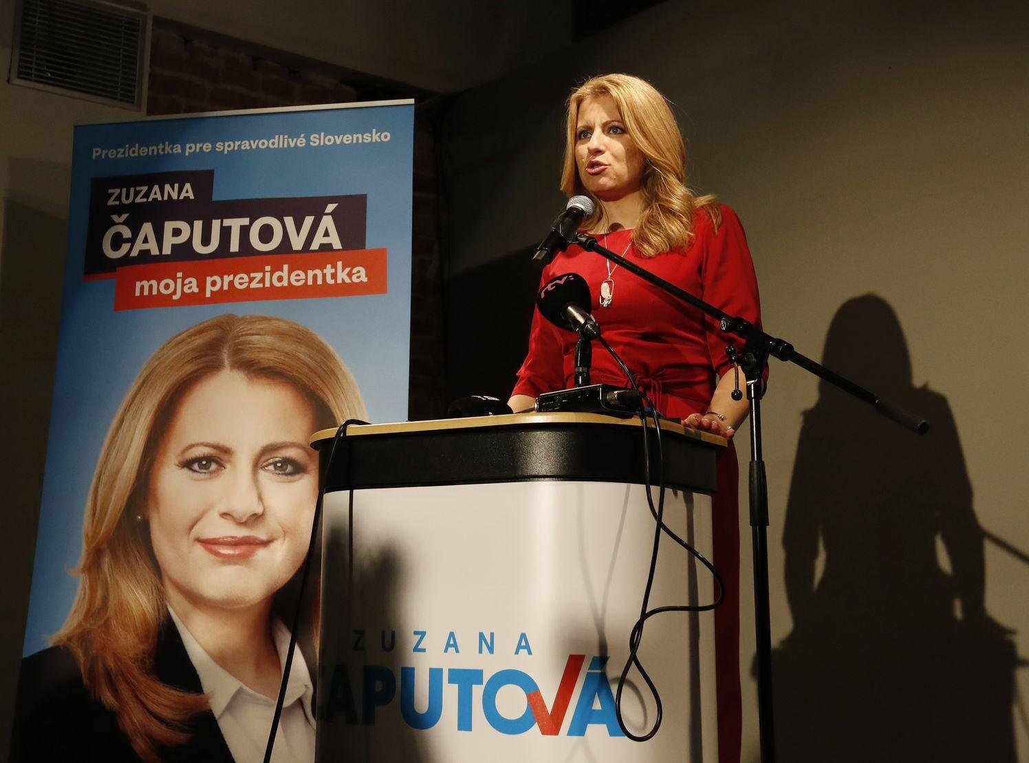 斯洛伐克举行总统大选首轮投票,由卡布托娃胜出。