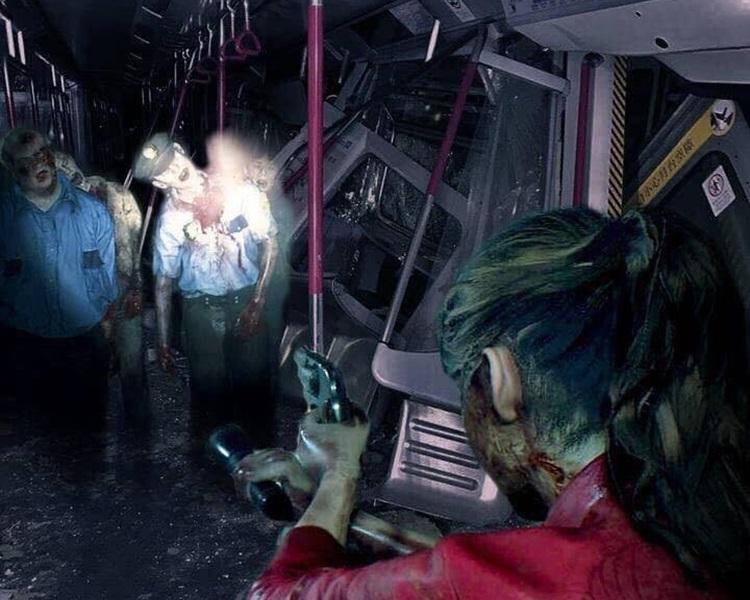 网民将丧尸游戏《Biohazard》画面与今早事故改图。网图