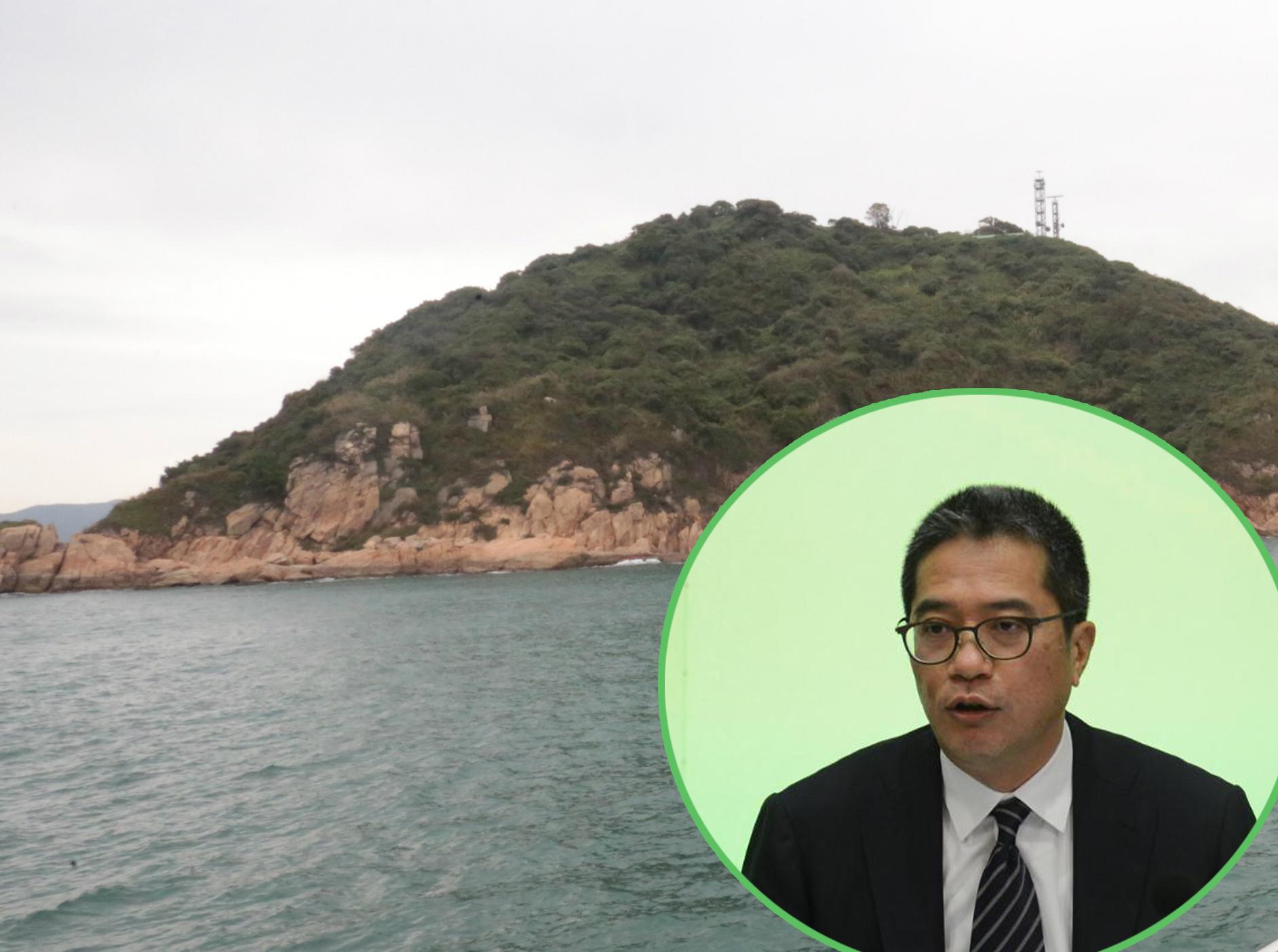 发展局局长黄伟纶就明日大屿愿景举行记者会,交代估算细节。
