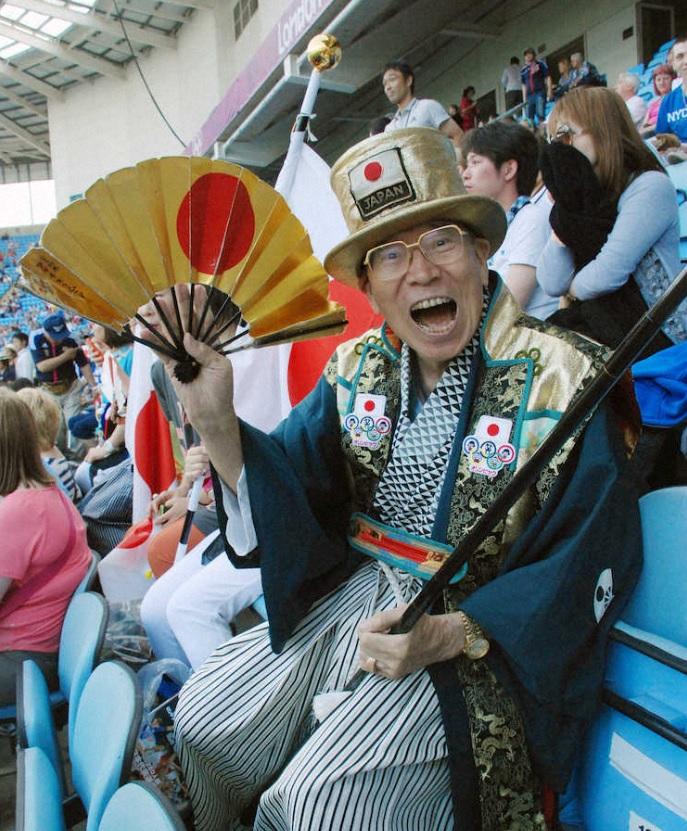 「奧運爺爺」從1964年的東京奧運以來,每屆奧運都親身到場為日本打氣。