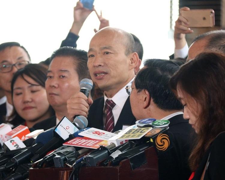 韓國瑜今日訪港。網圖