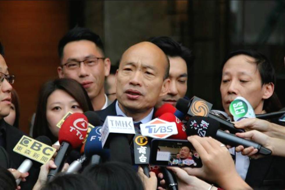 韓國瑜強調訪問為賣水果水產。網上圖片