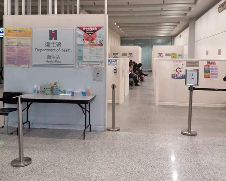衛生防護中心在機場禁區設立麻疹疫苗接種站,為有需要的機場工作人員接種疫苗。