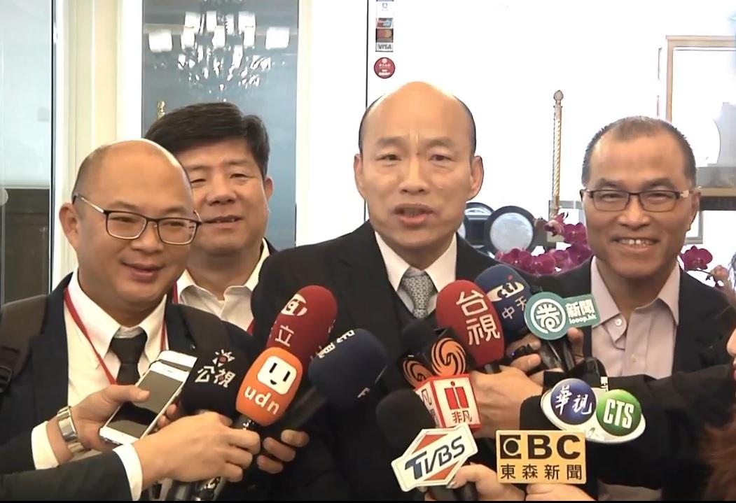 高雄市长韩国瑜结束访澳门。网上图片