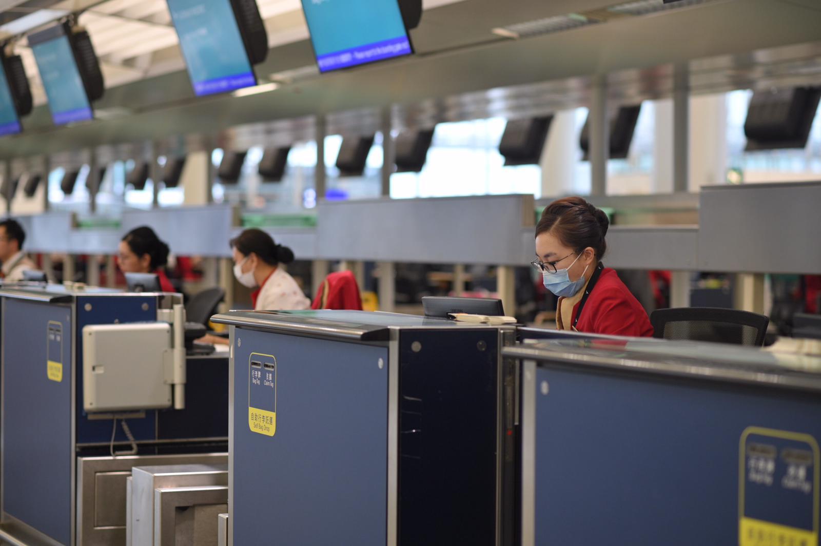 当局加强机场员工疫苗注射。资料图片