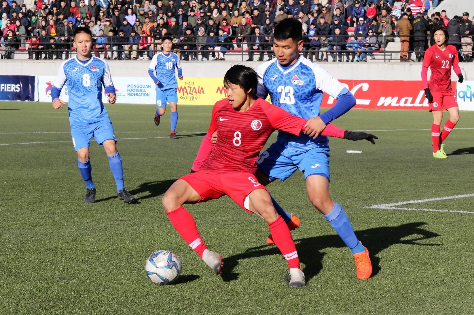 茹子楠助港隊1:0撃敗蒙古。 相片由足總提供