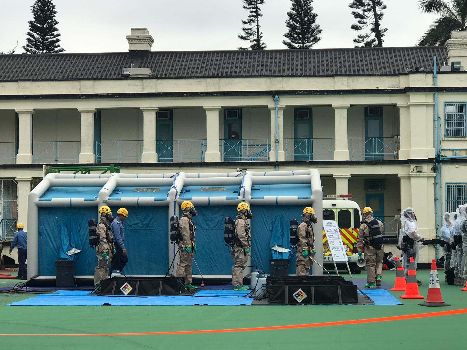 演习在筲箕湾鲤鱼门公园举行。