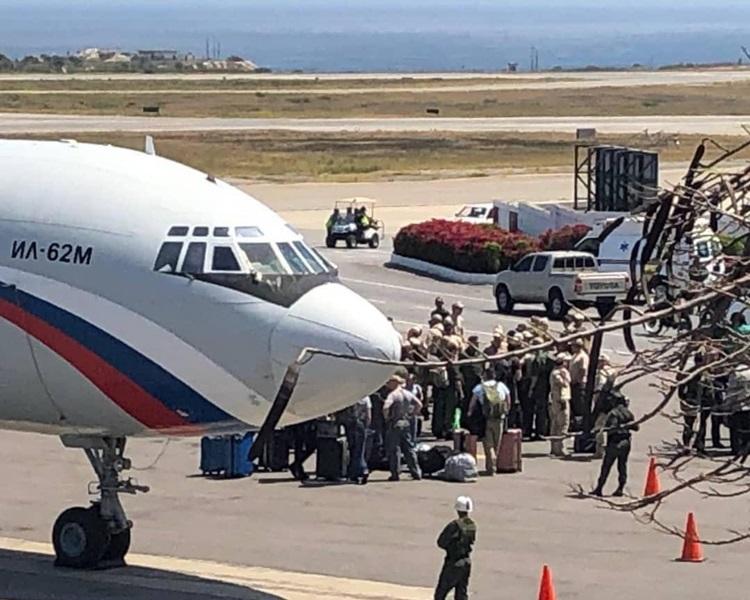 俄羅斯軍機飛抵委內瑞拉。Twitter